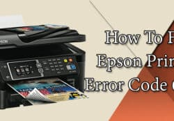 How To Fix Error Code OXF1 In Epson WF-3540 Printer