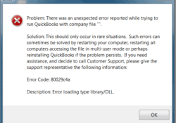 CORRECT WAY TO ADDRESS QUICKBOOKS ERROR 80029c4a