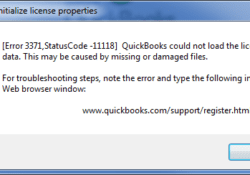 How To Rectify Quickbooks Error 3371 Status Code 11118