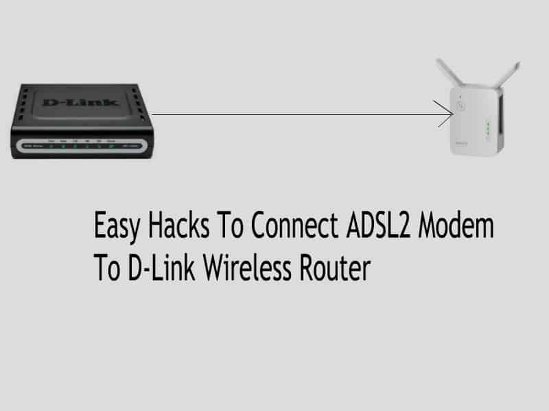Easy Hacks To Connect ADSL2 Modem To D-Link Wireless Router