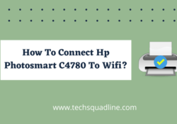 How to connect Hp Photosmart c4780 to wifi